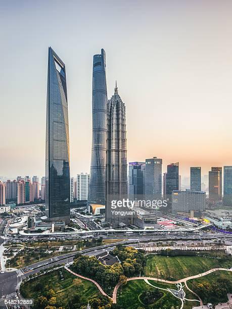 Shanghai Landmarks at Sunset