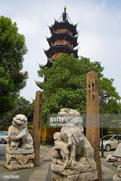 shanghai longhua temple - longhua temple stock photos and pictures