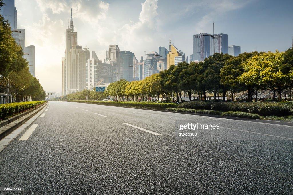 Shanghai lujiazui and century avenue,China. : Stock-Foto