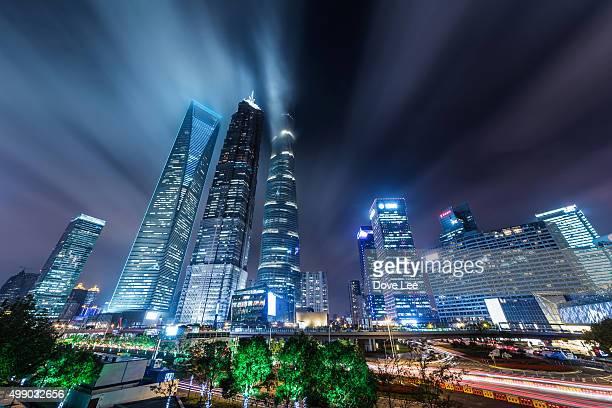 Shanghai Lujiazui at night