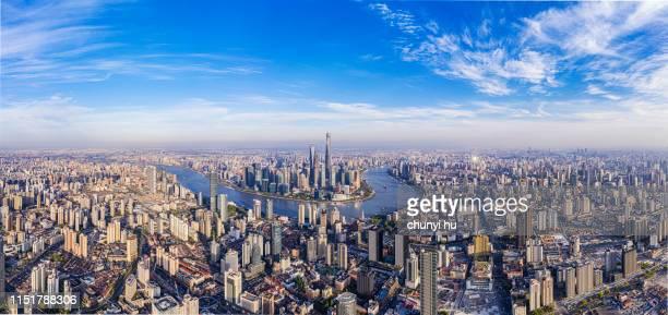 shanghai lujiazui finance and trade zone - rio huangpu - fotografias e filmes do acervo