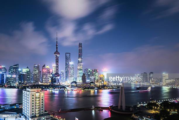 Shanghai Lujiazui financial district at night