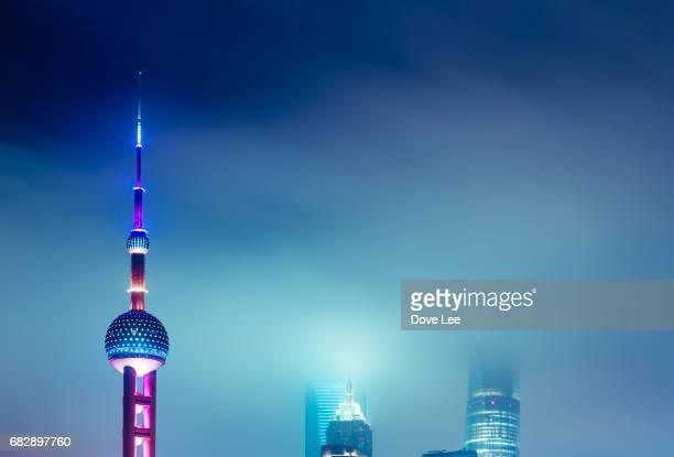 Shanghai Lujiazui financial district at night