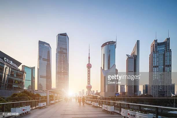 Shanghai Lujiazui financial district
