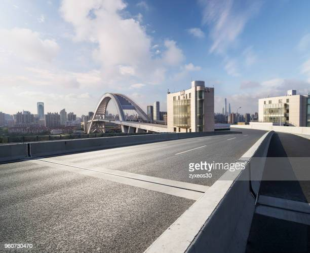 shanghai lupu bridge,china - east asia, - flyover stock pictures, royalty-free photos & images