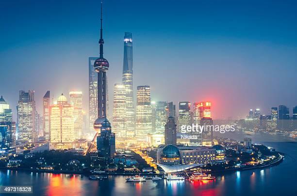 Shanghai Modern Skyline at dusk
