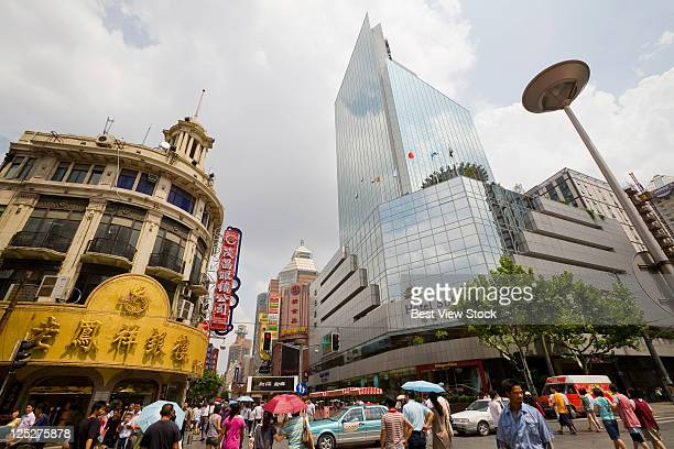 shanghai, nanjing road - brand name stock pictures, royalty-free photos & images