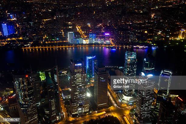 shanghai night - nee nee stock photos and pictures