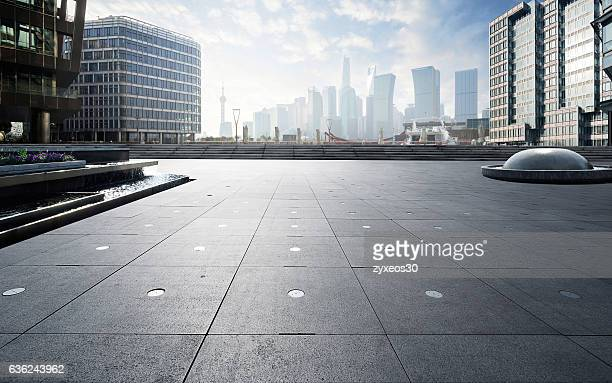 shanghai north bund  cityscape. - courtyard stock photos and pictures