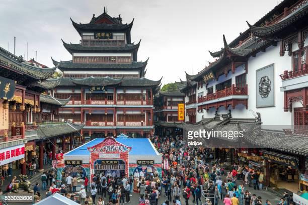 altstadt von shanghai, yu, china ist dieses bild gps markiert - altstadt stock-fotos und bilder