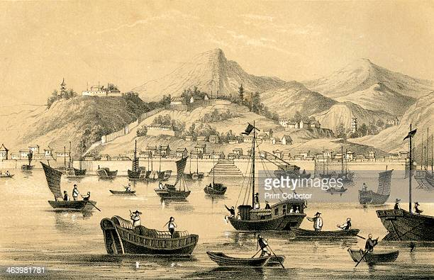 'Shanghai one of the five ports opened by the late treaty to British commerce' 1847 The Treaty of Nanking in 1842 after the First Opium War...