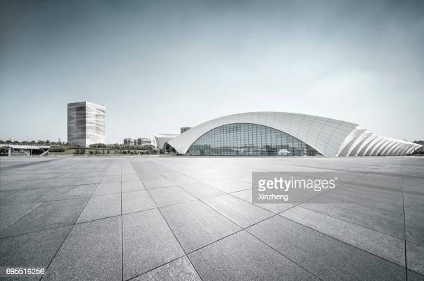 shanghai oriental sports center - empty road stock pictures, royalty-free photos & images