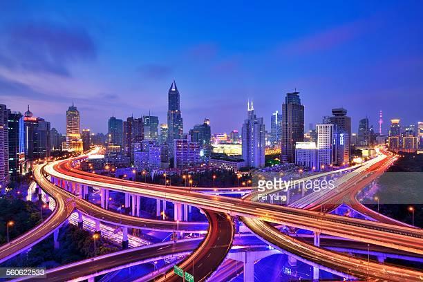 Shanghai overpass at Night
