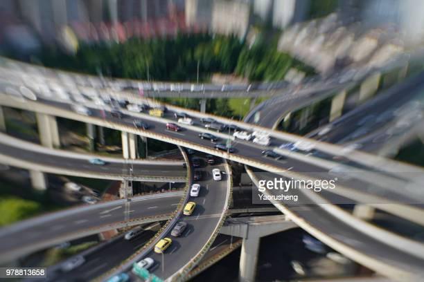 Shanghai overpass,by tilt and shift lens