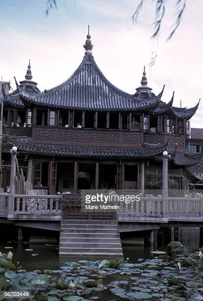 Shanghai Pavilion of Yuyuan garden of the mandarin Pan Yunduan 1965