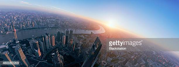 shanghai - wide angle stock pictures, royalty-free photos & images