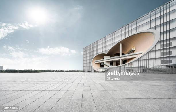 shanghai poly grand theatre - tadao ando stock photos and pictures