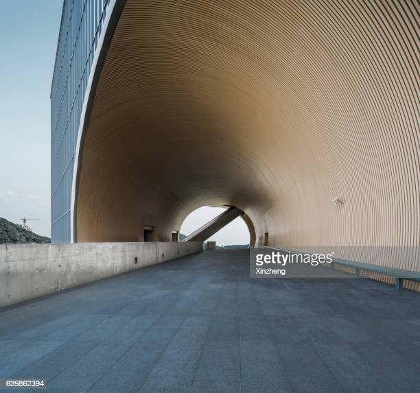 shanghai poly grand theatre, viewing platform - tadao ando stock photos and pictures