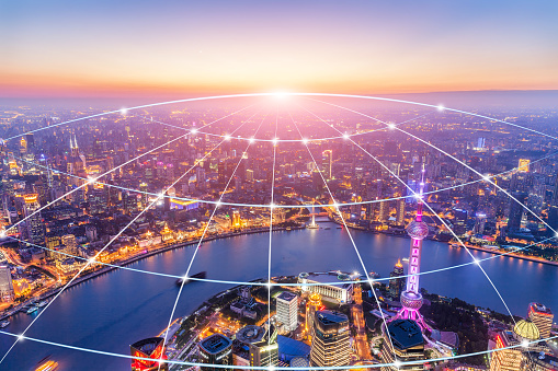 shanghai pudong City Network - gettyimageskorea