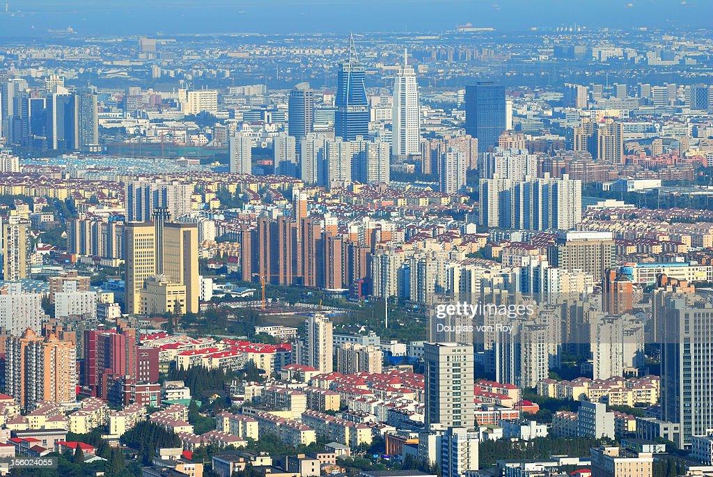 Shanghai Pudong cityscape : Stock Photo