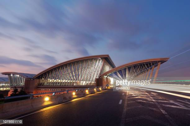 shanghai pudong international airport,china - east asia - china east asia stock pictures, royalty-free photos & images