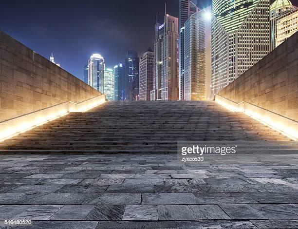 Shanghai pudong lujiazui at night