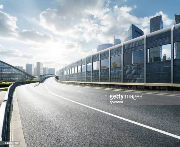 shanghai pudong lujiazui cityscape viaduct road,china - east asia, - china east asia stock pictures, royalty-free photos & images