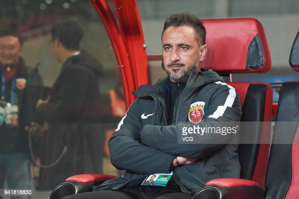 Shanghai SIPG head coach Vitor Pereira looks on during AFC Champions League Group F match between Shanghai SIPG and Kawasaki Frontale at the Shanghai...