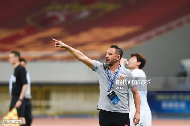 Shanghai SIPG head coach Vitor Pereira reacts during the AFC Champions League Group H match between Shanghai SIPG and Ulsan Hyundai at Shanghai...