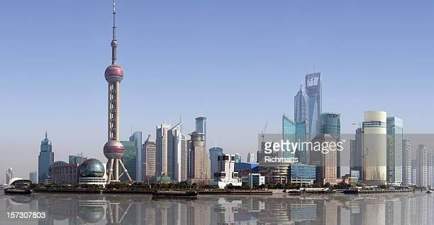 Shanghai Skyline, 10684 Pixels.