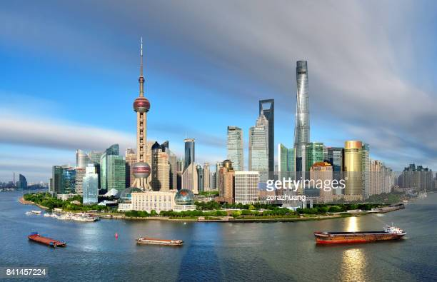 Shanghai Skyline at Sunny Day, China