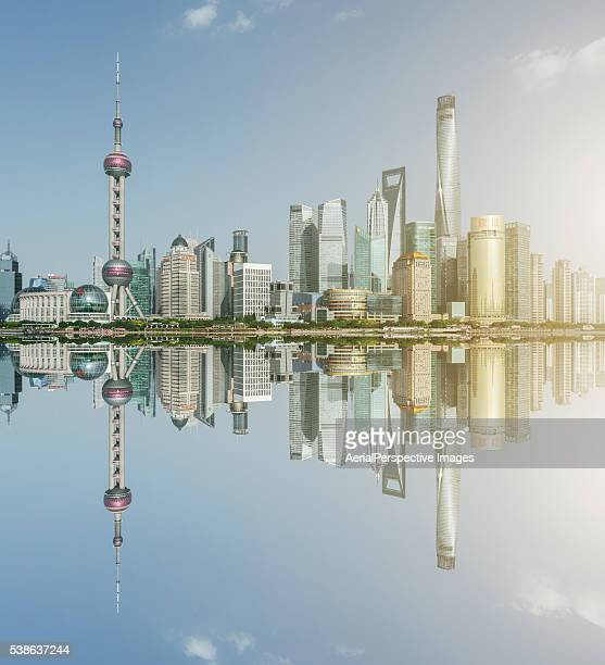 Shanghai Skyline At Sunrise