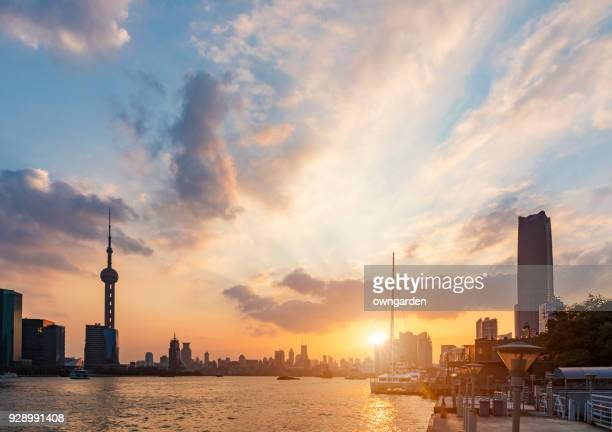 Shanghai Skyline at sunset