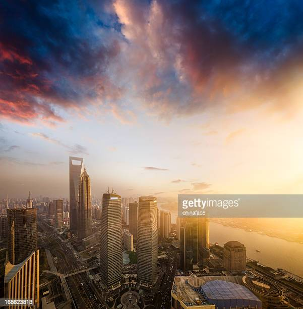 shanghai skyline - china east asia stock pictures, royalty-free photos & images