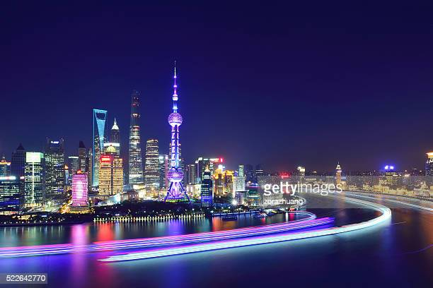 shanghai skyline - the bund stock photos and pictures