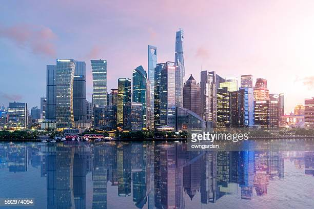 shanghai skyline - shanghai stock pictures, royalty-free photos & images