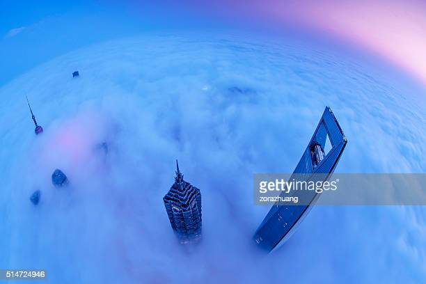 Shanghai Skyline Sunrise