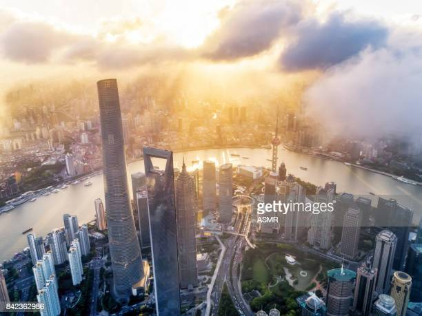 Shanghai Skyline Sunset