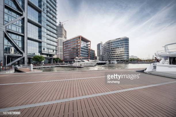 shanghai skyline,the city wharf - pier stock pictures, royalty-free photos & images