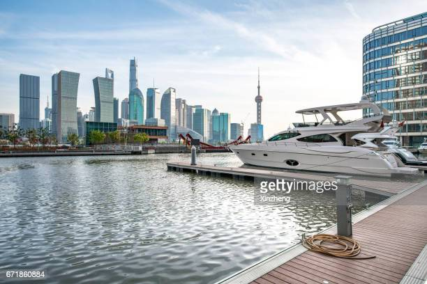 Shanghai skyline,The city wharf