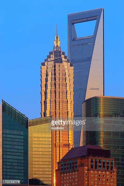 Shanghai Skyscraper at Dusk