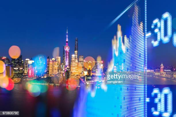 shanghai stock market - china stock pictures, royalty-free photos & images