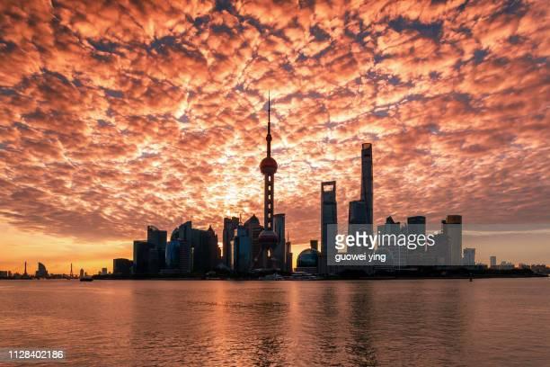Shanghai Sunrise Skyline