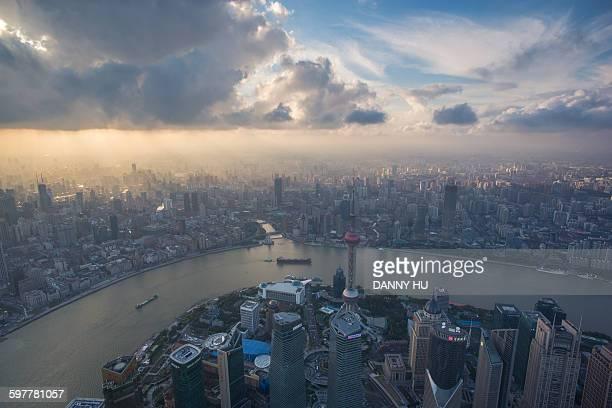 Shanghai under clouds