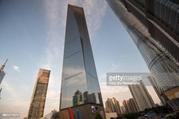 shanghai world financial center - shanghai - china - shanghai world financial center - fotografias e filmes do acervo