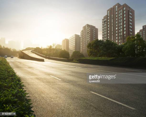 shanghai  yanggao road is shanghai pudong  transportation hub,china - east asia, - boulevard stock pictures, royalty-free photos & images