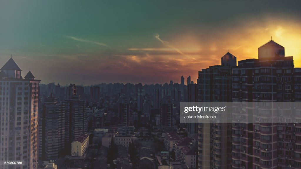 Shanghaian Sunset : Stock Photo