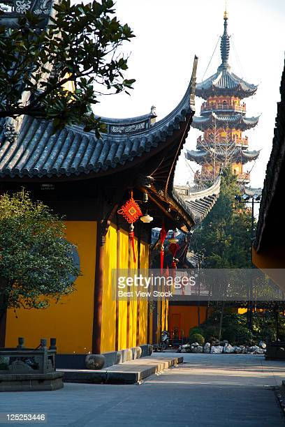 shanghai,china - longhua temple stock photos and pictures