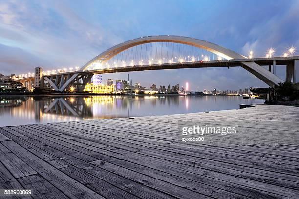 Shanghailupu bridge at night