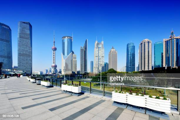 Shanghai's Lujiazui Skyscrapers, China